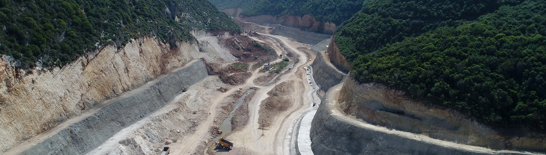 Construction of the Mseilha Dam and Lake