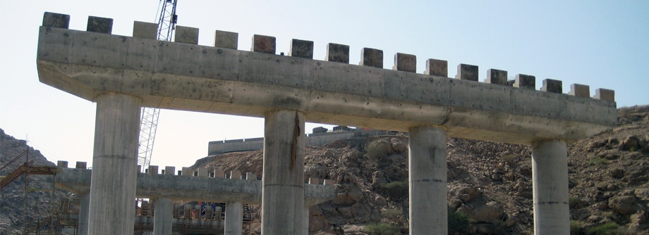 Construction of Wadi Bridge at Wutayah