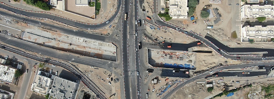 Construction of Tunnel in Sultan Bin Khalifa Roundabout at IP131